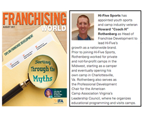 FRANCHISING WORLD AUGUST 2017 People and News Briefs